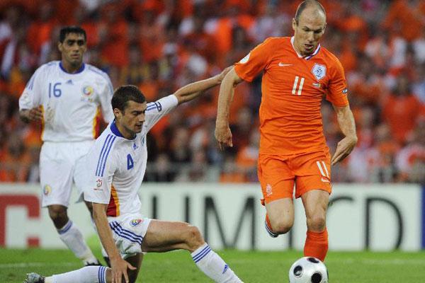 Romania - Olanda - Tamas vs Robben
