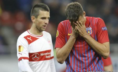 Steaua pierde cu Stuttgart insa este aproape de a se califica alaturi de CFR Cluj in primavara europeana