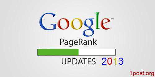 Google Pagerank updates 2013