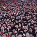 Fani din Coreea de Sud urmarind meci de la CM 2010