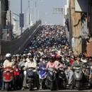 Motociclisti in Taipei