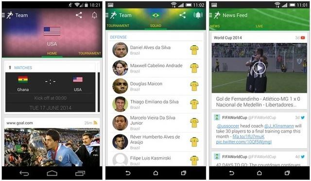 Aplicatii CM 2014 - Onefootball Brasil